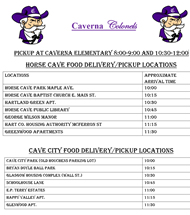 Caverna Food Delivery Pickup Locations